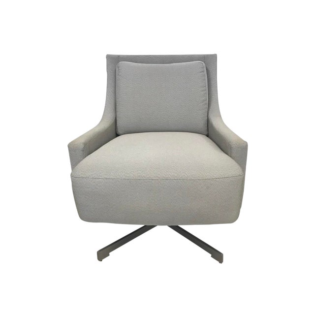 High End Barbara Barry For Hbf Swivel Lounge Chair Decaso