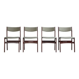 1960s Vintage Kai Kristiansen Vintage Danish Dining Chairs - Set of 4 For Sale