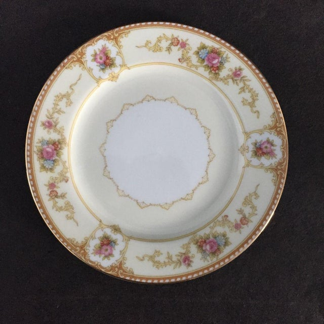 Traditional Vintage Noritake Floral Dessert Plates - Set of 7 For Sale - Image 3 of 5