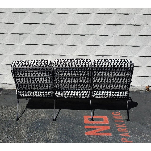 Mid Century Russel Woodard Sofa With Outdoor Upholstery For Sale In Charleston - Image 6 of 9