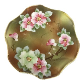 Antique Nippon Ceramic Maple Leaf Trivet For Sale