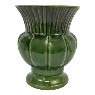 Large Glazed Ceramic Urn Cachepot For Sale