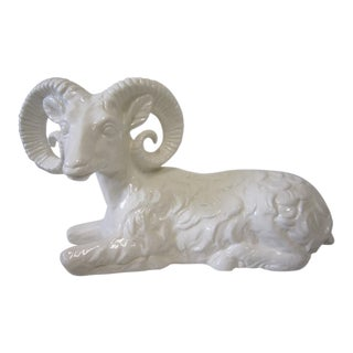 Ram Figure on Lucite Base For Sale