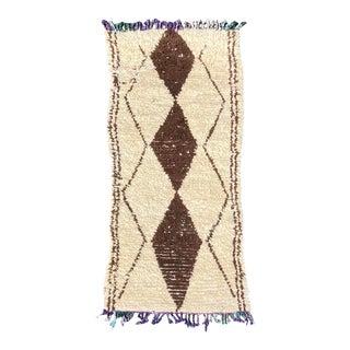 1990s Vintage Beni Ourain Berber Rug For Sale