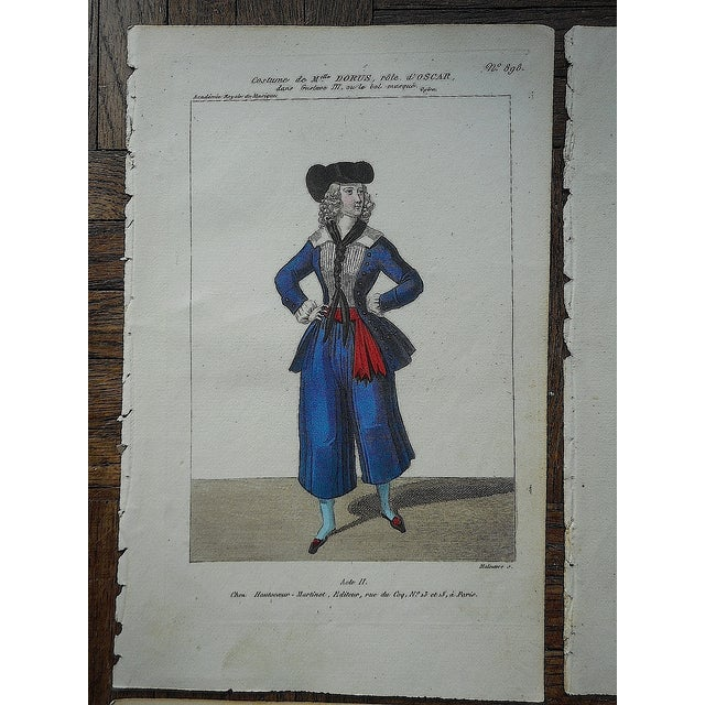 Four Antique French Theater/Costume Prints - Image 3 of 6
