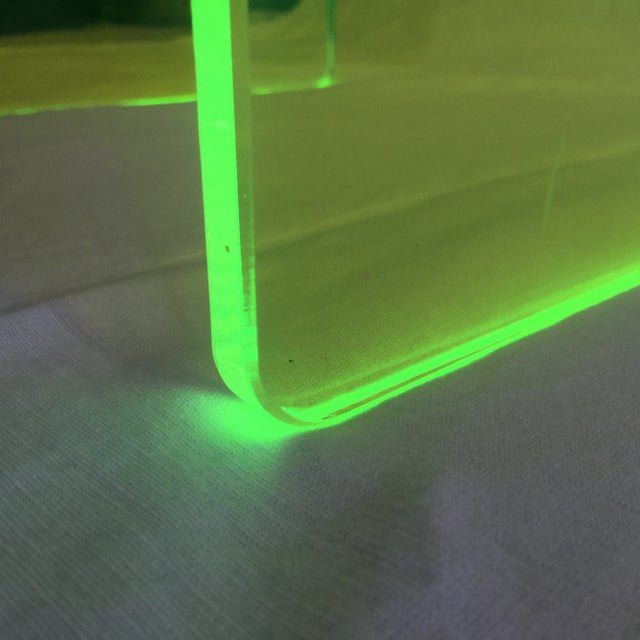 "Neon Green ""The Long Game"" Coffee Table in Neon Green For Sale - Image 8 of 11"