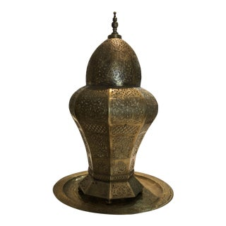 Modern Moroccan Style Brass Lantern For Sale