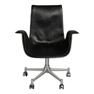 Fk 6727 Leather Bird Chairs by Preben Fabricius & Jørgen Kastholm for Alfred Kill Int. For Sale