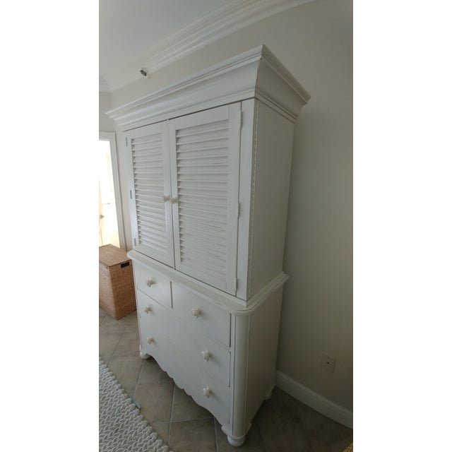 Cottage Lexington Cottage Living Armoire For Sale - Image 3 of 5