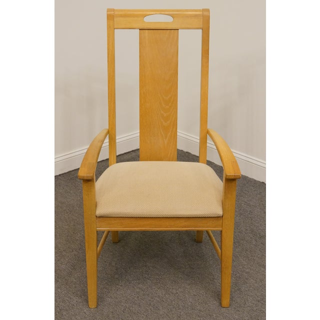 Arts & Crafts Late 20th Century Vintage Thomasville Furntiure American Revival Collection Dining Arm Chair For Sale - Image 3 of 9