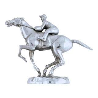 Vintage English Race Horse Chrome Car Mascot For Sale