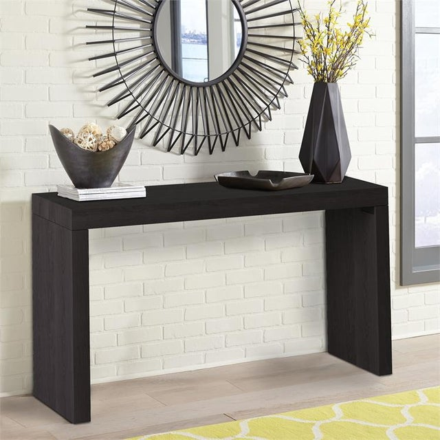 2020s Modern Kenneth Ludwig Chicago Black Wood Grain Console Table For Sale - Image 5 of 6