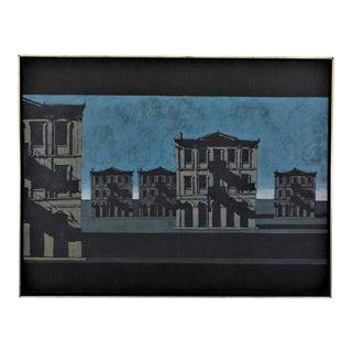 Large Scale Painting Cityscape Pop Art 'Autograph', John Gregoropoulos, 1975 For Sale