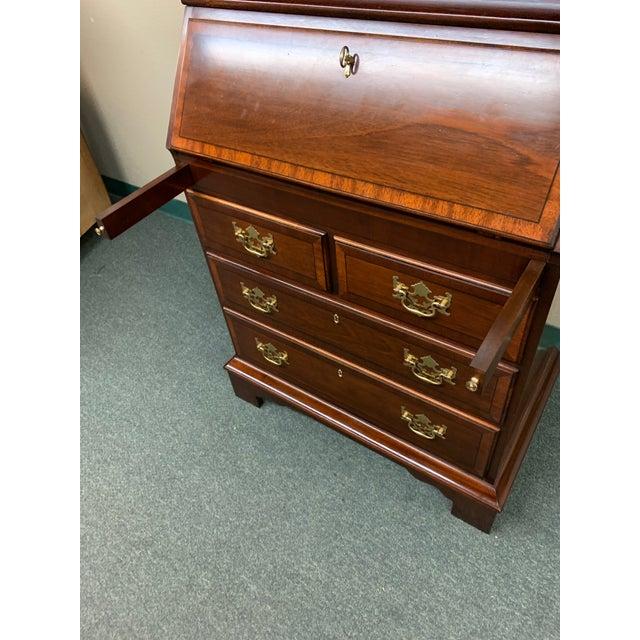 Traditional Vintage Mahogany Secretary For Sale - Image 3 of 12