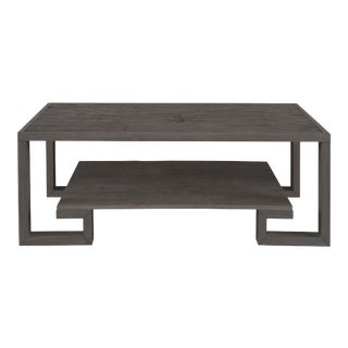 Century Furniture Greek Key Cocktail Table, Mink Grey Finish For Sale