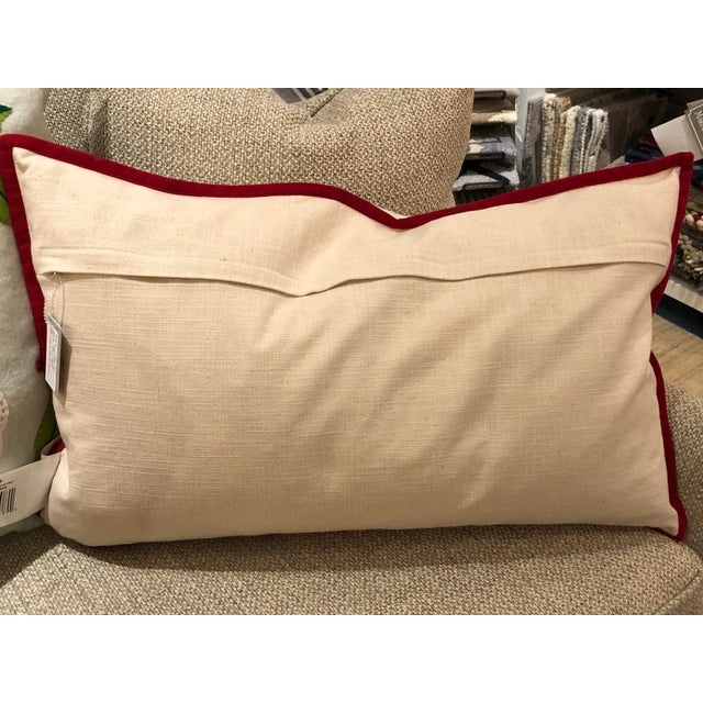 Kenneth Ludwig Chicago Merry Christmas Bolster Pillow For Sale - Image 4 of 5