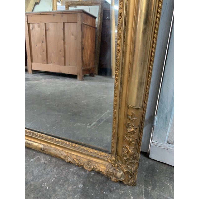18th Century Ornate French Louis Philippe Style Mirror For Sale - Image 11 of 13