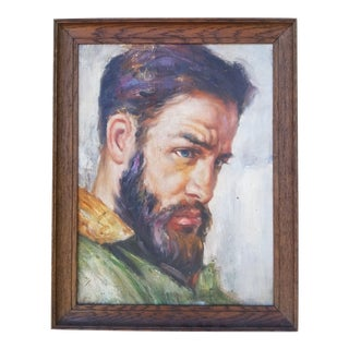 Handsome Russian Portrait Painting For Sale