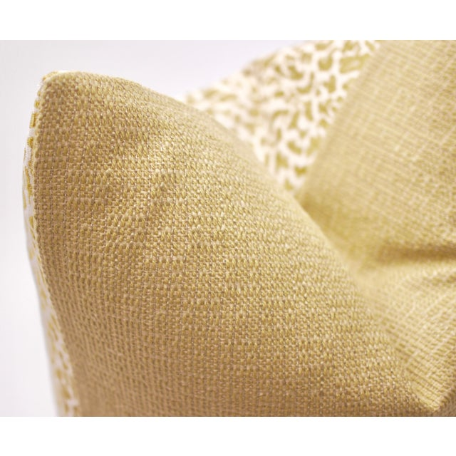 """Contemporary Bassett McNab Company 22"""" Square Chenille Leopardskin Pillow For Sale - Image 3 of 5"""