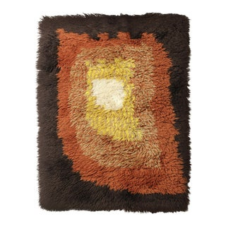 Scandinavian Mid-Century Rya Tapestry Rug For Sale