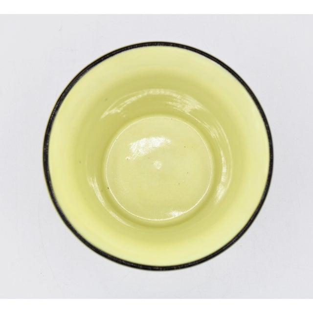 Italian Mottahedeh Canary Yellow Ceramic Cachepot Vessel For Sale - Image 9 of 12