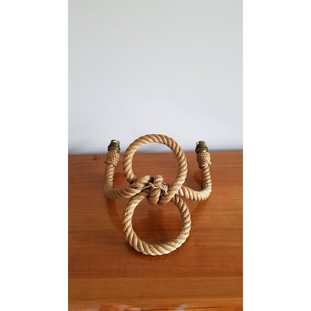 1960s Twin Loops Shaped Rope Sconce by Audoux Minet, France, 1960s For Sale - Image 5 of 6