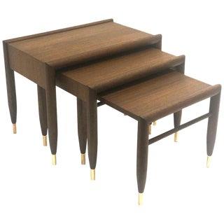 1950s Mid-Century Modern John Keal for Brown Saltman Nesting Tables - Set of 3 For Sale