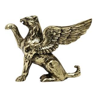 Vintage Brass Griffin Figurine For Sale