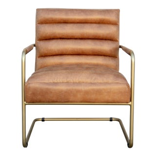Modern Faux Leather Lounge Chair For Sale