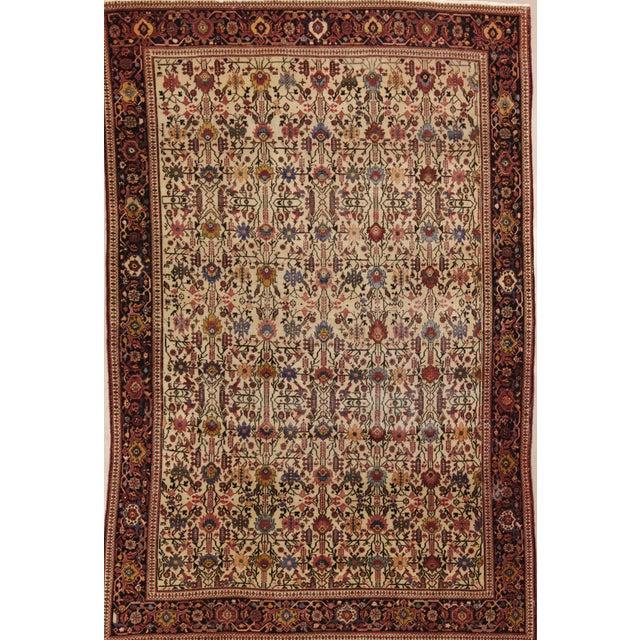 "Classic Antique Persian Sarouk Rug, 4'4"" X 6'5"" For Sale - Image 11 of 11"