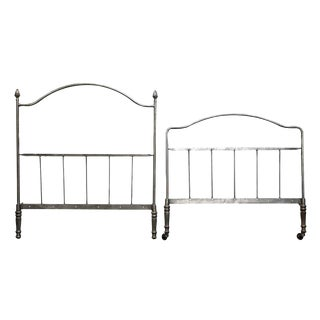 Gray Metal Twin Bedframe For Sale