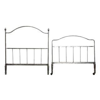 Gray Metal Twin Bedframe