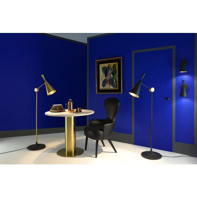 Mid-Century Modern Tom Dixon Beat Floor Brass For Sale - Image 3 of 7