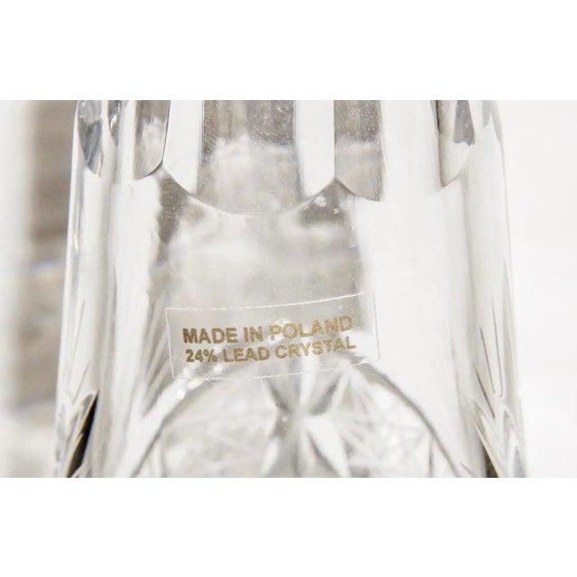 Vintage Slender Cut Lead Crystal Decanter For Sale - Image 10 of 11
