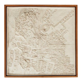 Topographical Survey Ceramic Wall Sculpture For Sale
