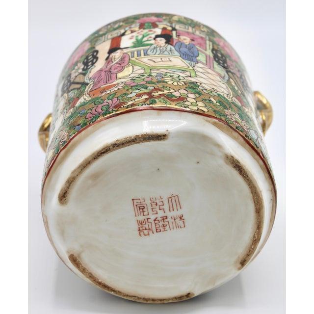 18th Century Chinese Rose Medallion Porcelain Lidded Jar For Sale - Image 9 of 12