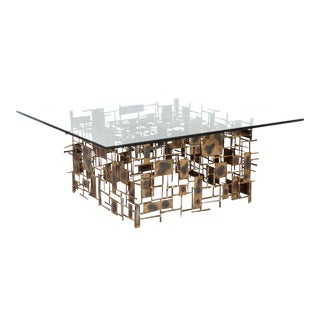Brutalist Coffee Table by Marc Creates For Sale