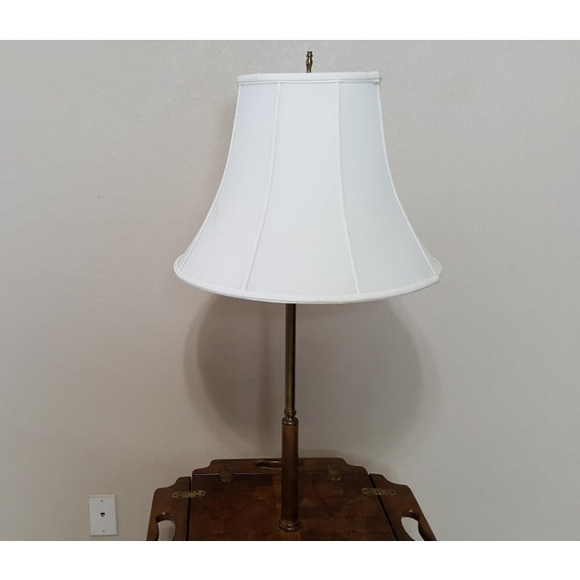Wood Vintage Knob Creek Mid Century Table Floor Lamp For Sale - Image 7 of 13