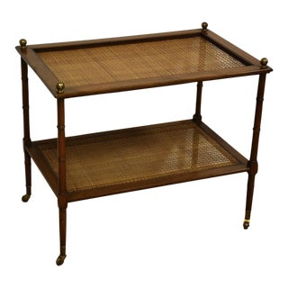 Kittinger Faux Bamboo and Cane Tea Cart