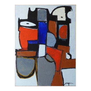 """""""Soiree Jazz"""" an Original Contemporary Painting by Contemporary American Artist Kenneth Joaquin For Sale"""