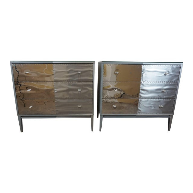 Image of Paul McCobb Planner Group Brutalist Revision Dressers - A Pair