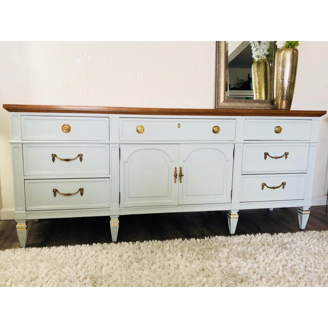 French Vintage Thomasville Sideboard For Sale - Image 3 of 12