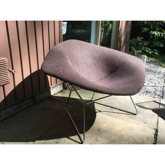 1970s Mid Century Modern Harry Bertoia for Knoll Diamond Lounge Chair - Image 8 of 8