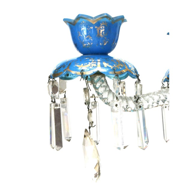 Pair of French Victorian Baccarat Crystal Candelabras For Sale In New York - Image 6 of 12