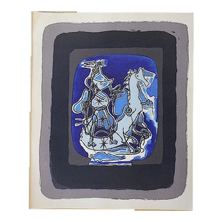 Vintage Mid 20th C. Modern Equine Lithograph - Georges Braque For Sale