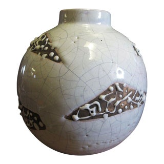 Vintage Primaver 1930's Art Deco Ceramic Vase France For Sale