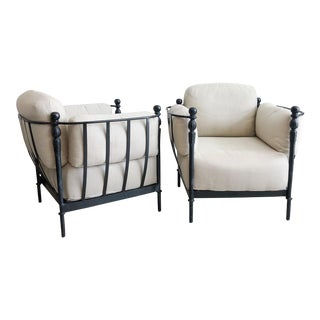 Pair Michael Taylor Montecito Outdoor Lounge Chairs For Sale