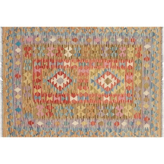 "Nalbandian - Contemporary Afghan Maimana Kilim - 2'10"" X 4'1 For Sale"