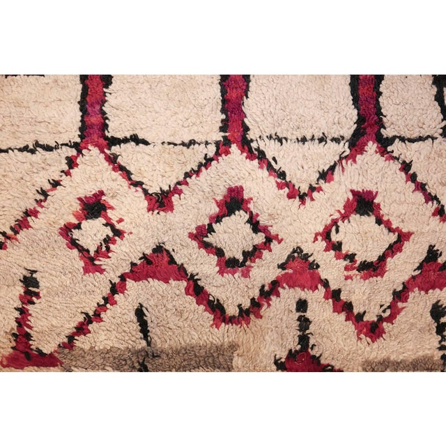 Vintage Moroccan Colorful Wool Rug - 3′5″ × 5′9″ For Sale - Image 9 of 10