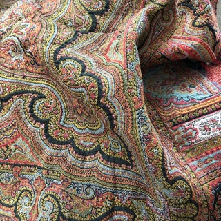 Antique Wool Paisley Cloth For Sale